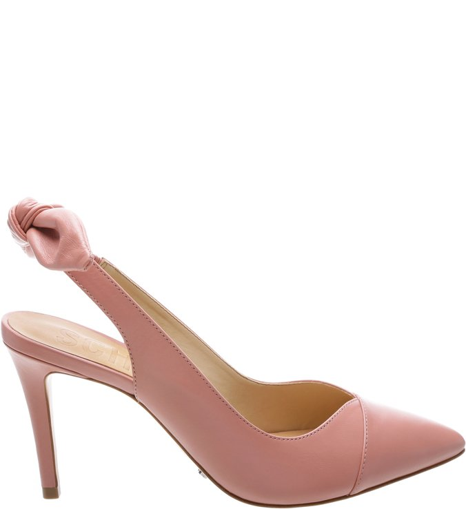 Scarpin Slingback Bow Back Poppy Rose