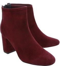 Bota Block Heel Short Red