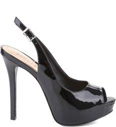 Peep Toe Slingback Black