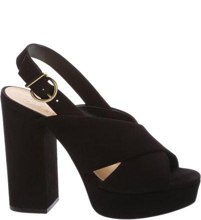 Sandália Bold Black Heel Black