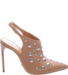 Slingback Studded Ankle Boots Toasted - US Special Collection