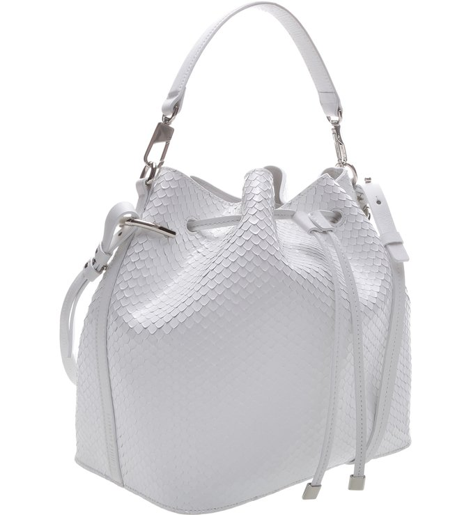 Bucket Bag Snake White