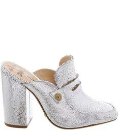 Block Heel Mule Prata