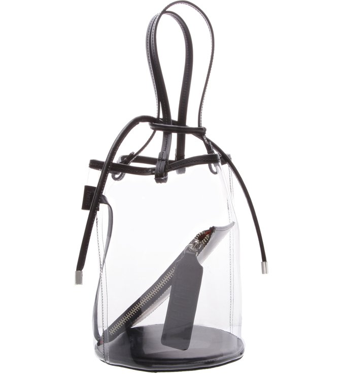 Bucket Bag Vinil Crystal Black