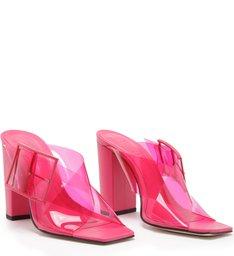 Mule Salto Bloco Vinil Full Color Pink