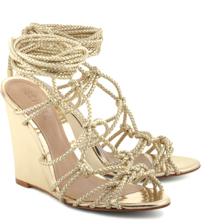 Wedge Cross Lace Up Platina