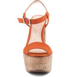 Sandália Bell Heel Orange Ochre