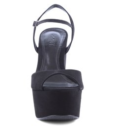 Sandália Plataforma Em Nobuck Black