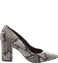 Scarpin Block Heel Python