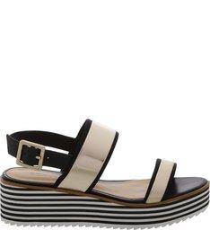 Sandália Flatform Stripes Black