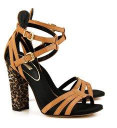 Sandália Tiras Salto Onça