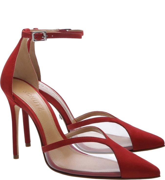 Scarpin Vinil Nobuck Red