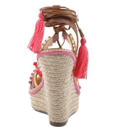 Espadrille Anabela Ethnic Bamboo