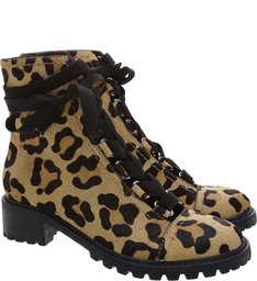Coturno Lace Up Animal Print