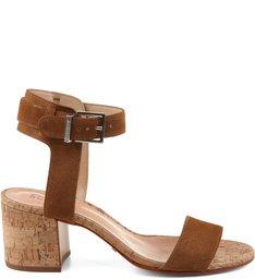 Sandália Salto Quadrado Bamboo