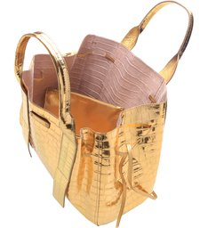 Shopping Bag Maxi Golden Croco