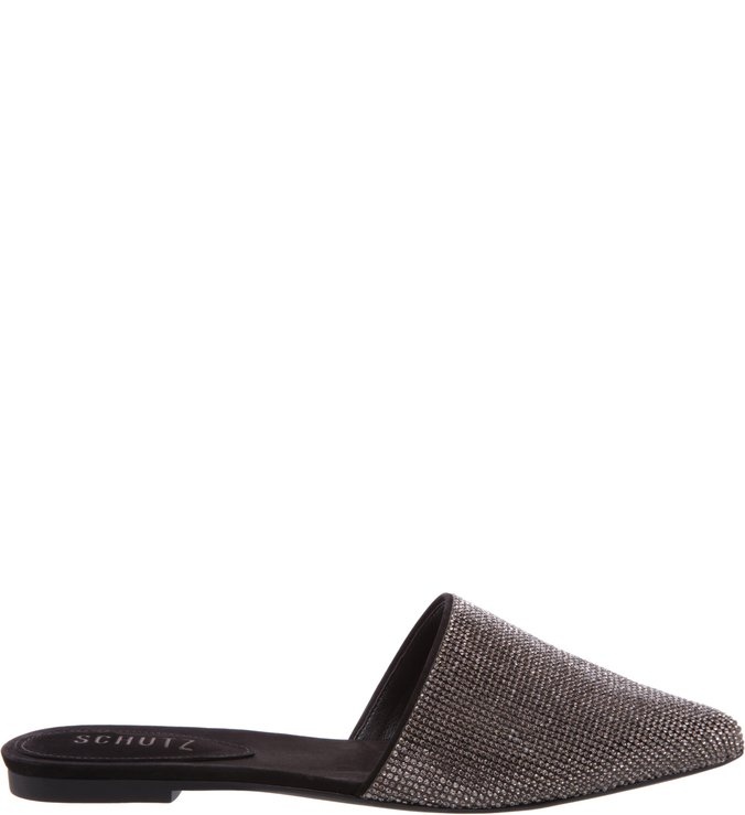 Flat Mule Diamond Black