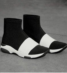 Sock Sneaker Stretch Black