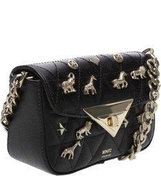 Baby Crossbody Matelassê Animals Black