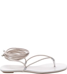 Flat Lace Up Thin Strips Pearl