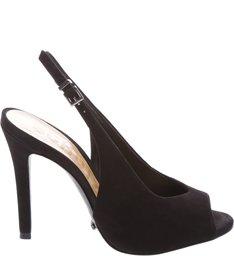 Peep Toe High Vamp Nobuck Black