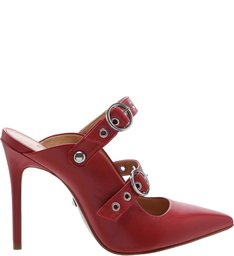 New Quereda Strap Mule High Changeable Red