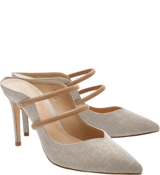 Mule Mary Jane Linho Natural