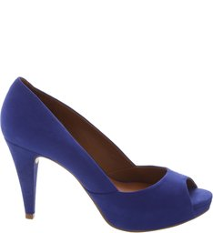 Scarpin Peep Toe Blue