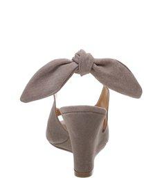 Sandália Anabela Slingback Mouse
