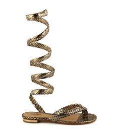 Sandália Rasteira Snake Platina
