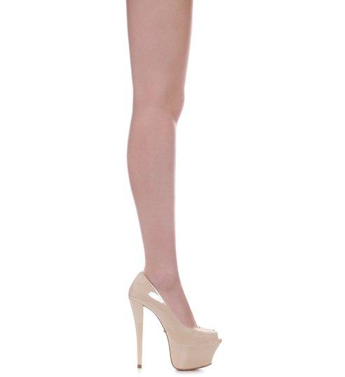 efbe32f6a9 Sapato Peep Toe Super High Nude | Schutz