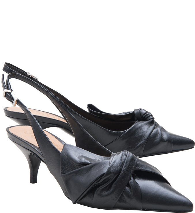Kitten Heel Cindy Maxi Bow Black