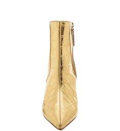 Bota Mid Heel Golden Croco