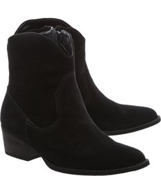 New Western Boot Nobuck Black