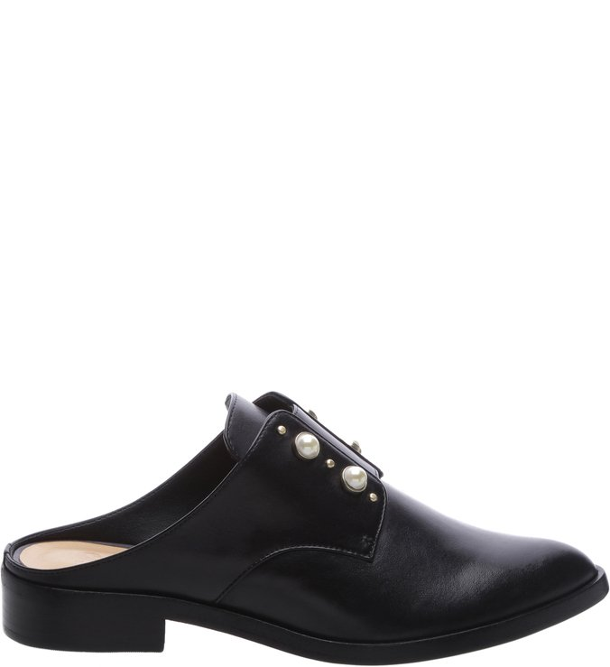 Oxford Mule Studs Black