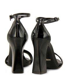 Sandália Clássica Tornozeleira Preta