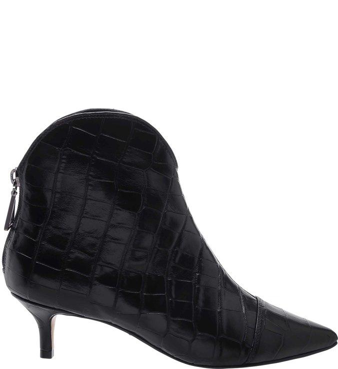Bota Kitten Heel Western Croco Black | Schutz