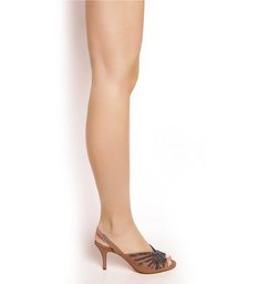 Sandália Sparkle Medium Heel Toasted Nut