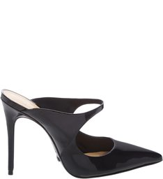 Mule Stiletto Verniz Black