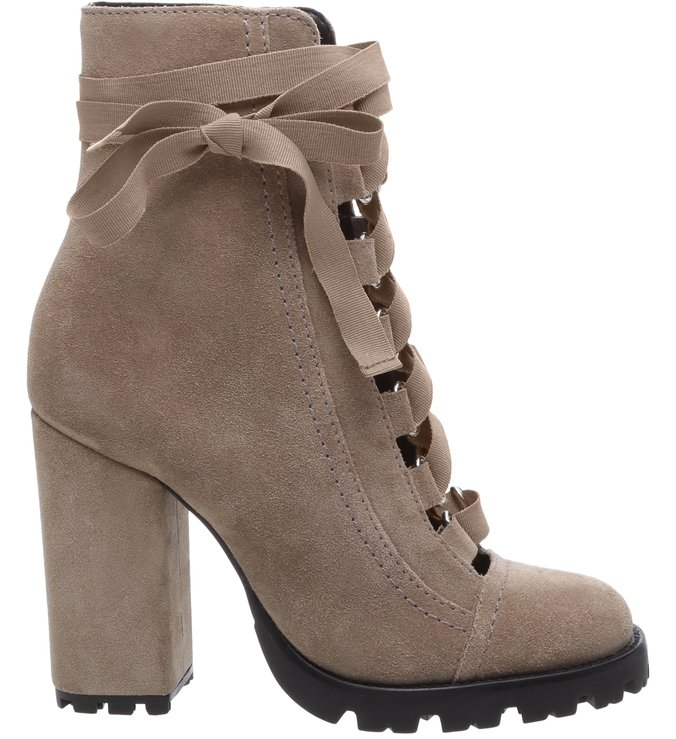 Combat Boots Sola Tratorada Leather Mouse
