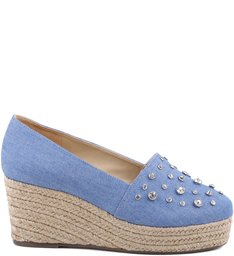 Flatform Espadrille Cristais Light Blue