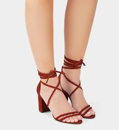 Sandália Lace-Up Nobuck Red