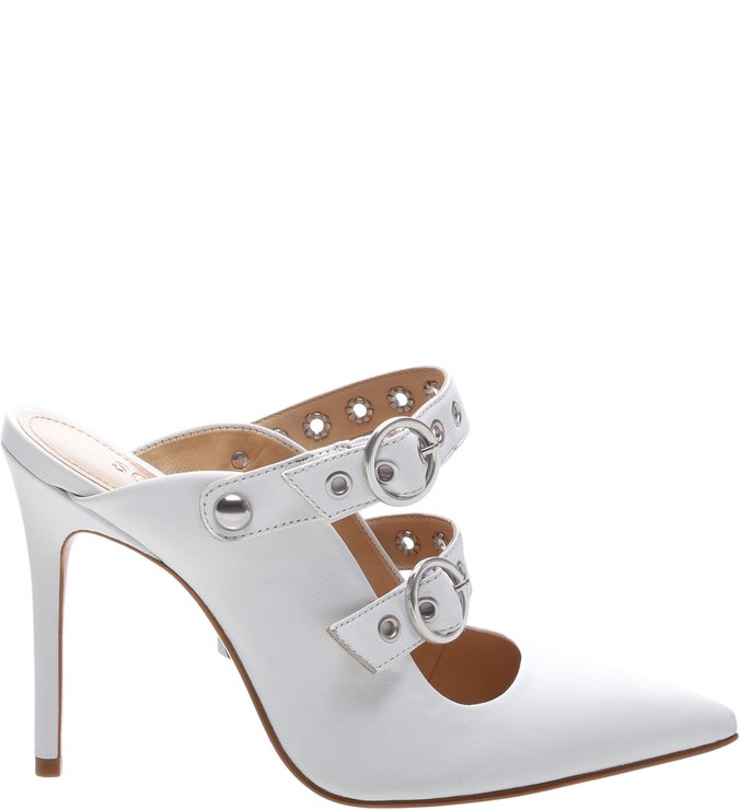 New Quereda Strap Mule High Changeable White | Schutz