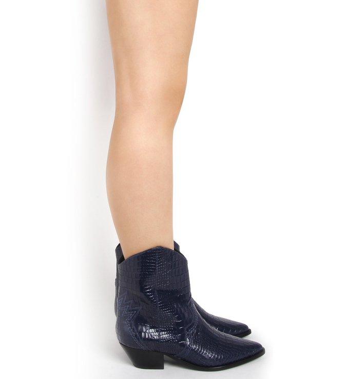 Cowboy Boot Deluxe Croco Deep Blue