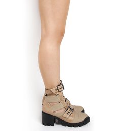 Cut Out Lace-Up New Western Boot Neutral