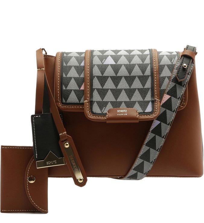 Crossbody Wallet Triangle Brown | Schutz