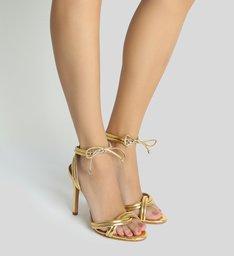 Sandália Lace-up Golden