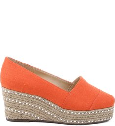 Flatform Espadrille Mini Crystals Nice Orange
