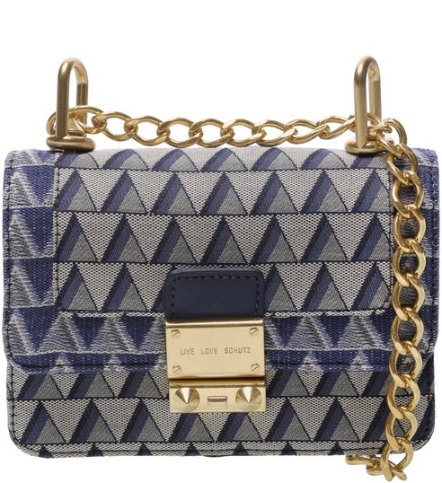Crossbody Mini Jacquard Triangle Jeans