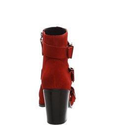 Ankle Boot Triple Belt Scarlet